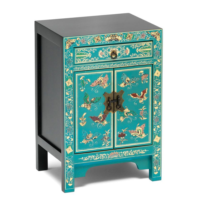 Small Chinese Cabinet in Blue | Bedroom makeover | Pinterest ...
