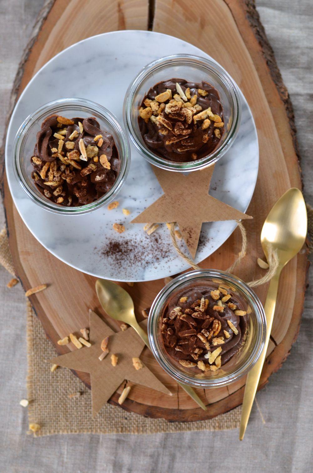 Mousse au mascarpone, cacao et amandes (sans oeuf) | Recette
