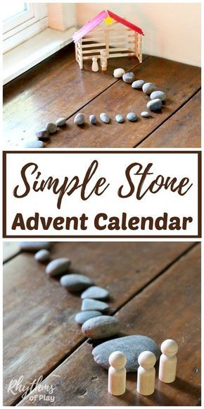 Simple Stone Advent Calendar Nativity Scene Advent calendars