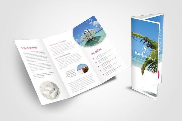 Travel Brochure Template Travel Agency Tri Fold By