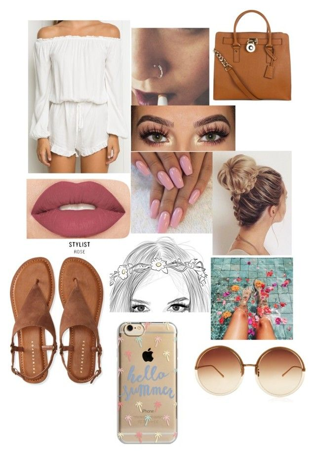 """Untitled #520"" by cheekylover on Polyvore featuring Smashbox, MICHAEL Michael Kors, Aéropostale, Linda Farrow and Agent 18"