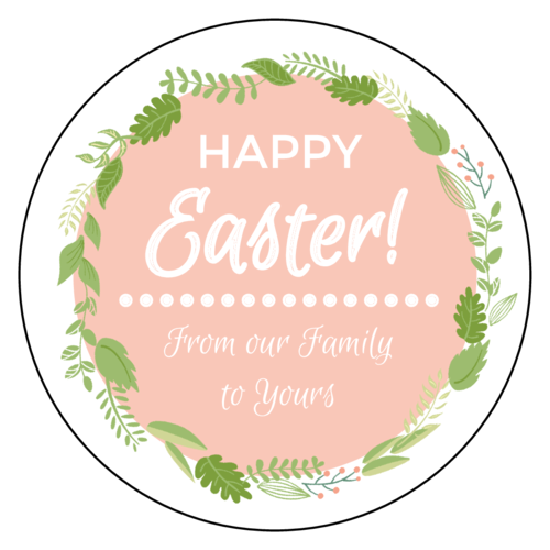 happy easter free sticker template free label printables