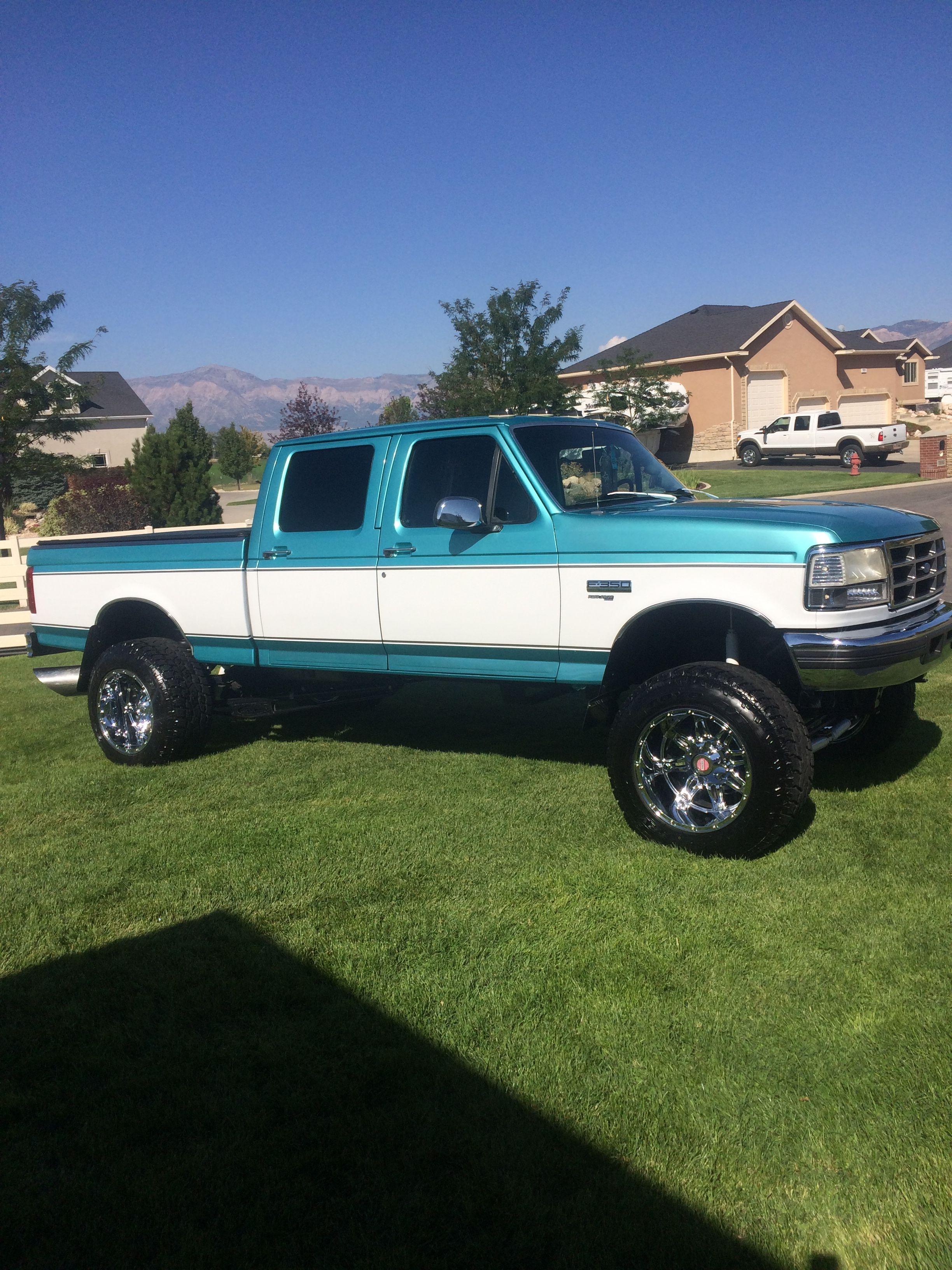 1996 Ford Short Bed Crewcab Powerstroke Jacked Up Trucks Trucks Diesel Trucks