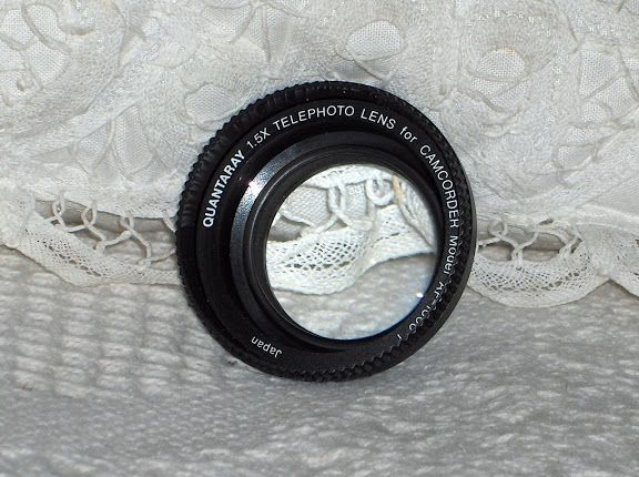 A Junkee Shoppe Junk Market Stop: QUANTARAY 1.5X Telephoto Camcorder Camera Lens Used... Click Link Here To View >>>> http://ajunkeeshoppe.blogspot.com/2015/10/quantaray-15x-telephoto-camcorder.html