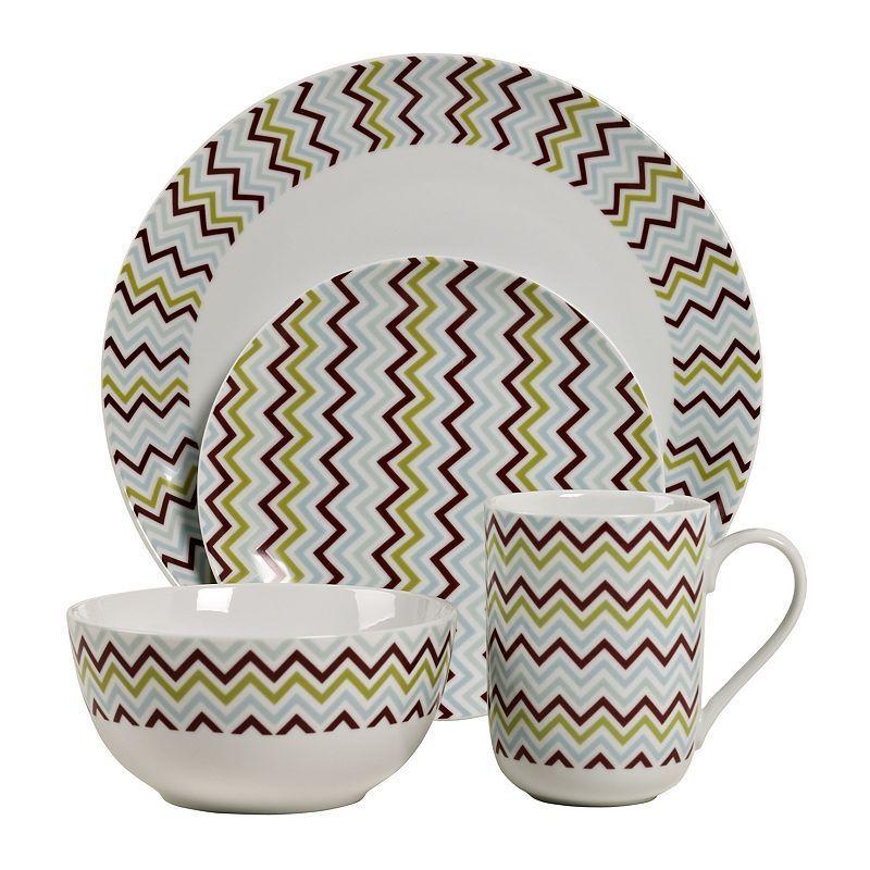 Tabletops Gallery Zigzag 16-pc. Dinnerware Set Multicolor  sc 1 st  Pinterest & Tabletops Gallery Zigzag 16-pc. Dinnerware Set Multicolor ...