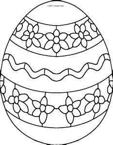 Een eitje met bloemen en een mooie versiering erop. Hoe ziet jouw paasei eruit? Kleur hem maar mooi in.