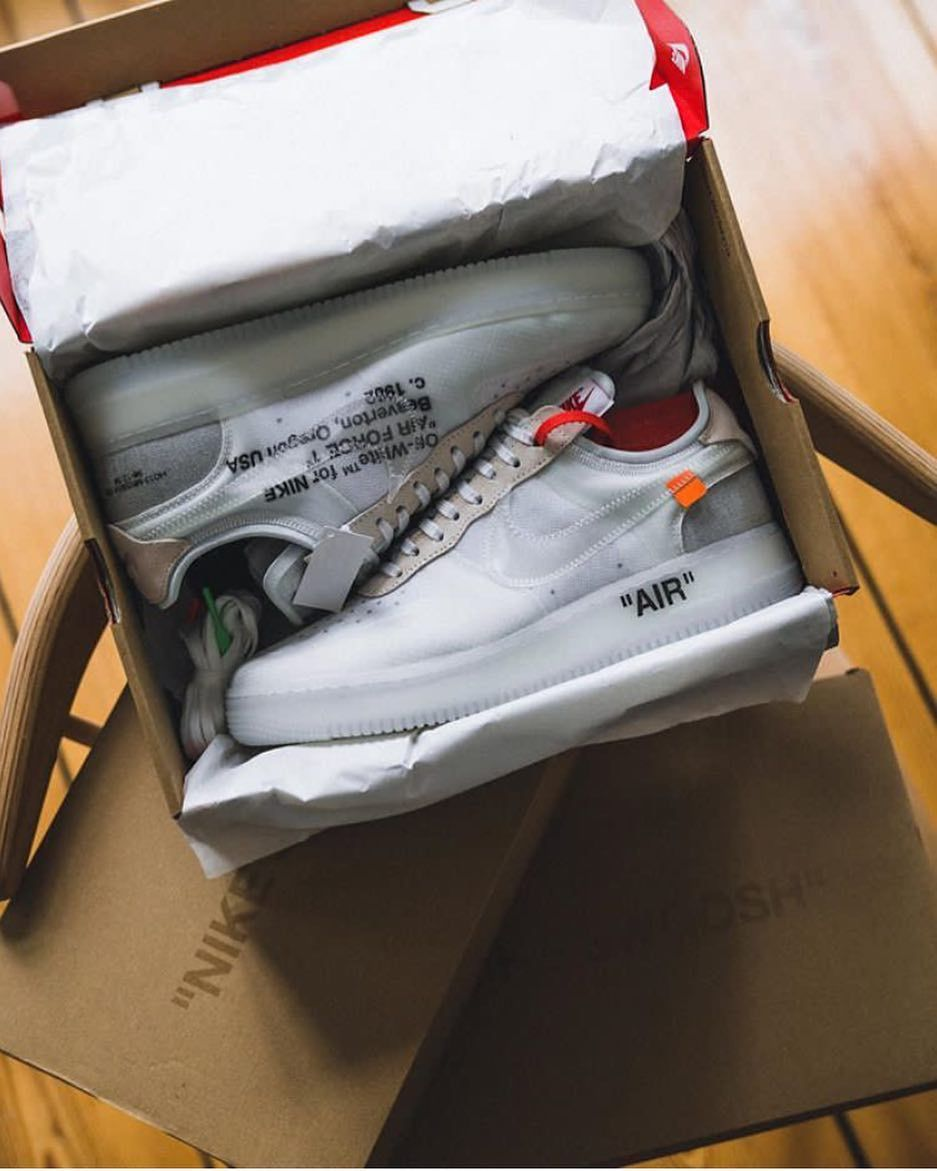 5a4538cfe3e46 Unboxing heat! The whole  nike x  off    white collaboration will hit  chosen retailers soon. The Air Force 1 was surprisingly released a couple  of days ago ...