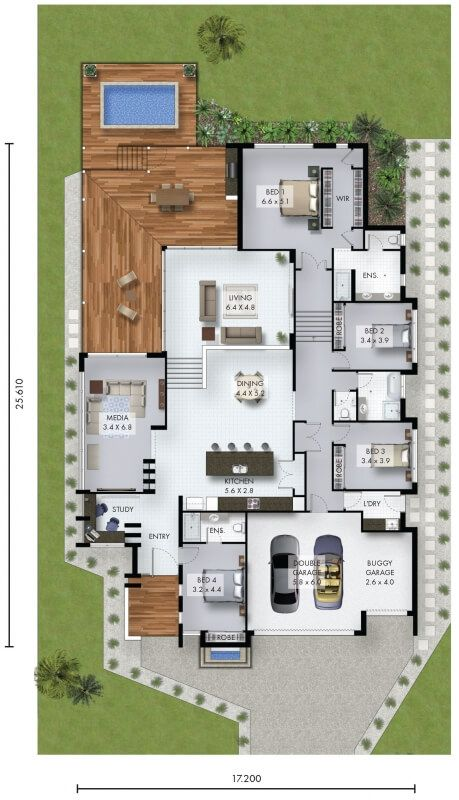 Woodsong David Reid Homes Sims House Plans House Plans House Layout Plans