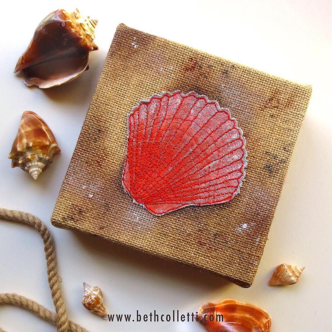 This week I'm featuring a bunch of coastal inspired pieces that are now up for grabs in my Etsy shop! Click the link in my profile or visit  http://www.bethcolletti.com/shop to see more  #coastalcottage #scallop #beachart #nauticaltheme
