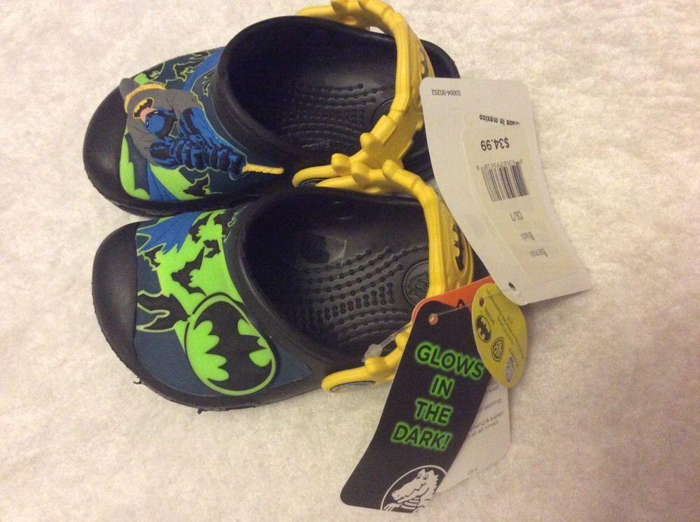 4317b686163 Batman Crocs Sandals 6 7 Toddler Boy Molded Shoes Superhero Nwt #Crocs