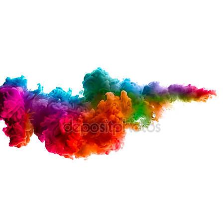 Rainbow Of Colors Colorful Ink In Water Color Explosion Stock Photo Holi Colors Colored Smoke Colorful Clouds