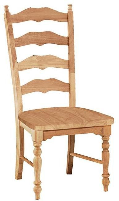 Sit In Style And Comfort With Our Maine Ladderback Dining Chair Crafted Of Solid Parawood Hardwood Dimensions 19 3 4 Wide X 18 1 Deep 42 Tall