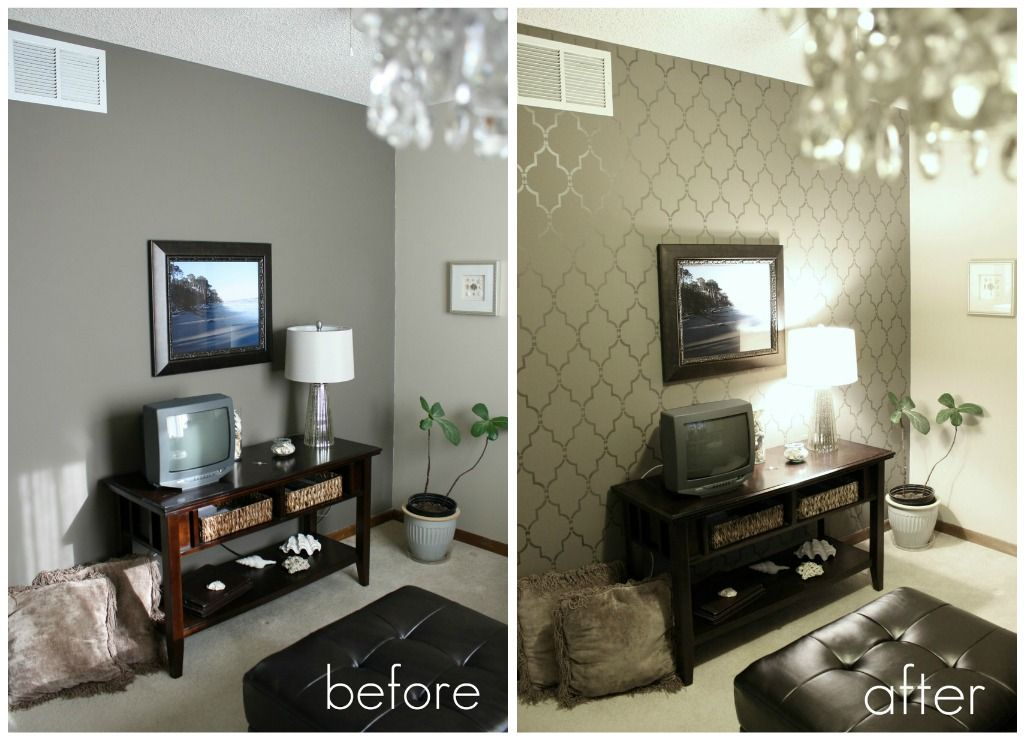 Stencil for accent wall My future home Pinterest Stenciling