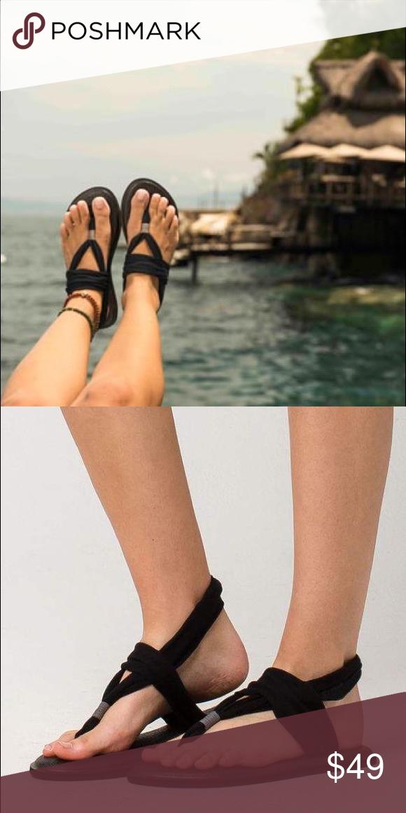 Sanuk Yoga Sling Sandals in Black