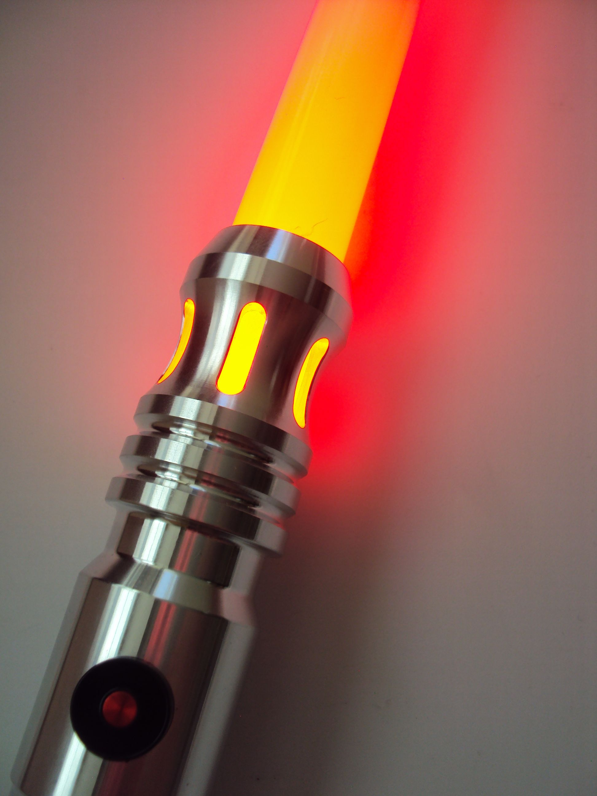 ultrasabers initiate v4 with metallic red switch and windows in the