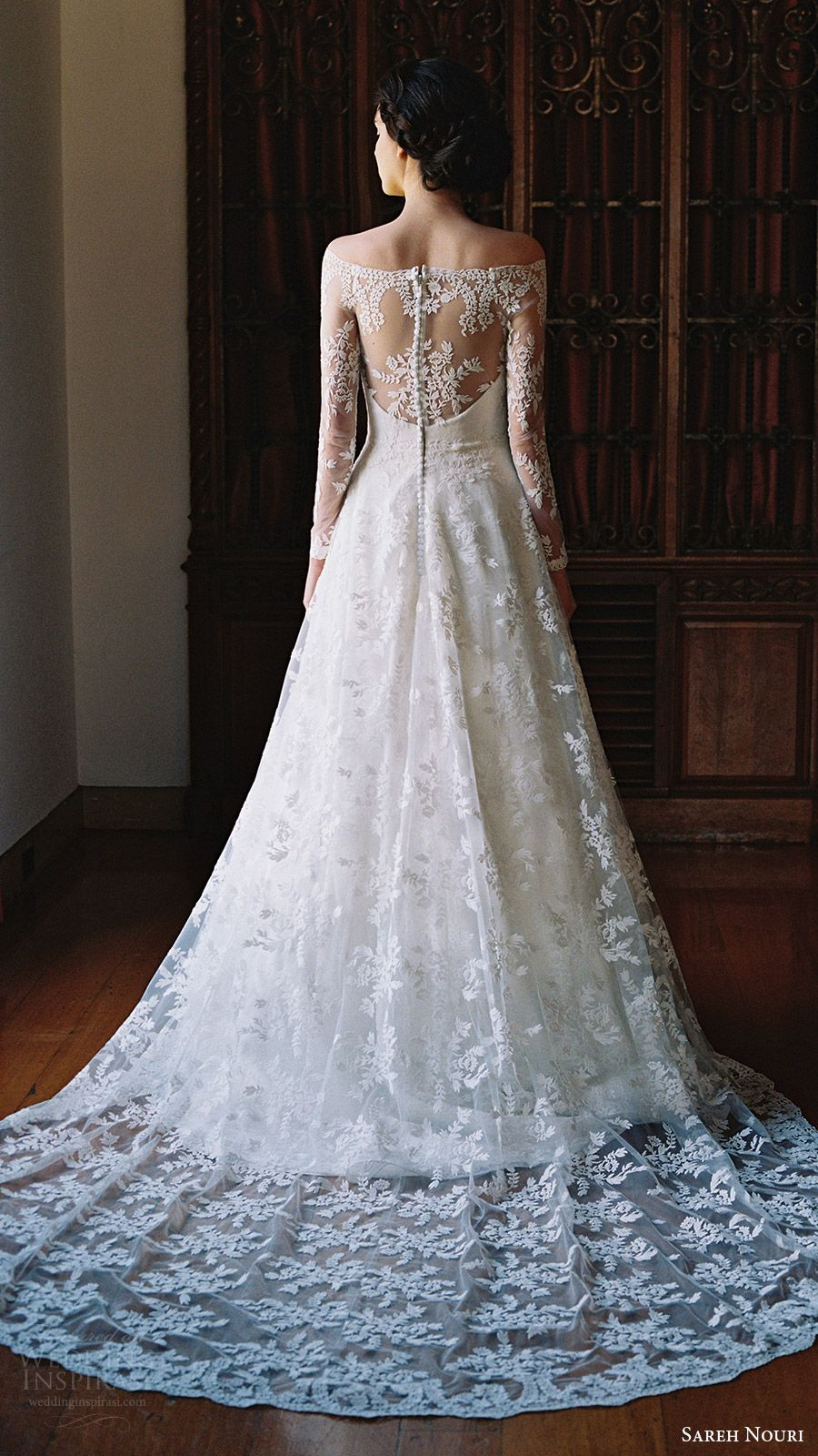 Sareh nouri bridal spring wedding dresses illusions wedding