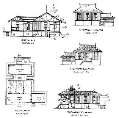 Building Conservation: Lukisan Terukur Rumah Melayu ... on modern small house plans, mediterranean house plans, prairie style house plans, caribbean house plans, luxury house plans, florida house plans, ranch house plans, pueblo style house plans, traditional house plans, beach house plans, balinese house plans, jamaica house plans, craftsman style house plans, japanese house plans, cottage style house plans, colonial house plans, unique modern house plans, simple house plans, country house plans, 4-bedroom economical house plans,