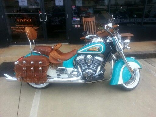 Turquoise Indian Motorcycle