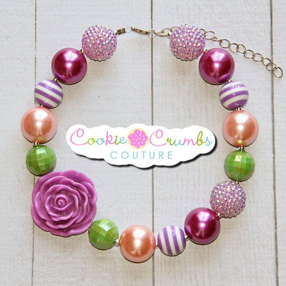 """This necklace is a fun piece for your daughter's necklace collection! use it all year round or add it in with a Tshirt and jeans for a more casual look or match that perfect fabric for that one of a kind outfit! !   Handcrafted from quality items, our necklaces are not mass produced and are made to last! All of our necklaces are made to be approx. 16"""" with 4"""" in chain so that it can grow with your child and fit many ages."""
