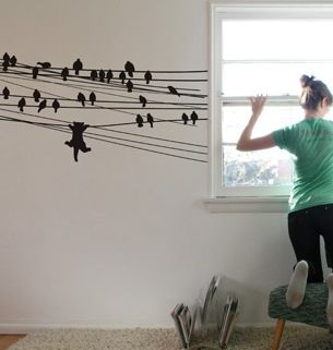 This Wall Graphic Is Based On Threadless T Shirt Design Ambition Killed The  Cat By Neil Gregory.