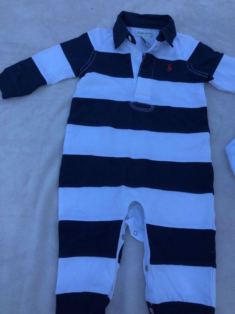 64cf23469 ralph lauren jump Suit 6M Baby Boy  fashion  clothing  shoes ...