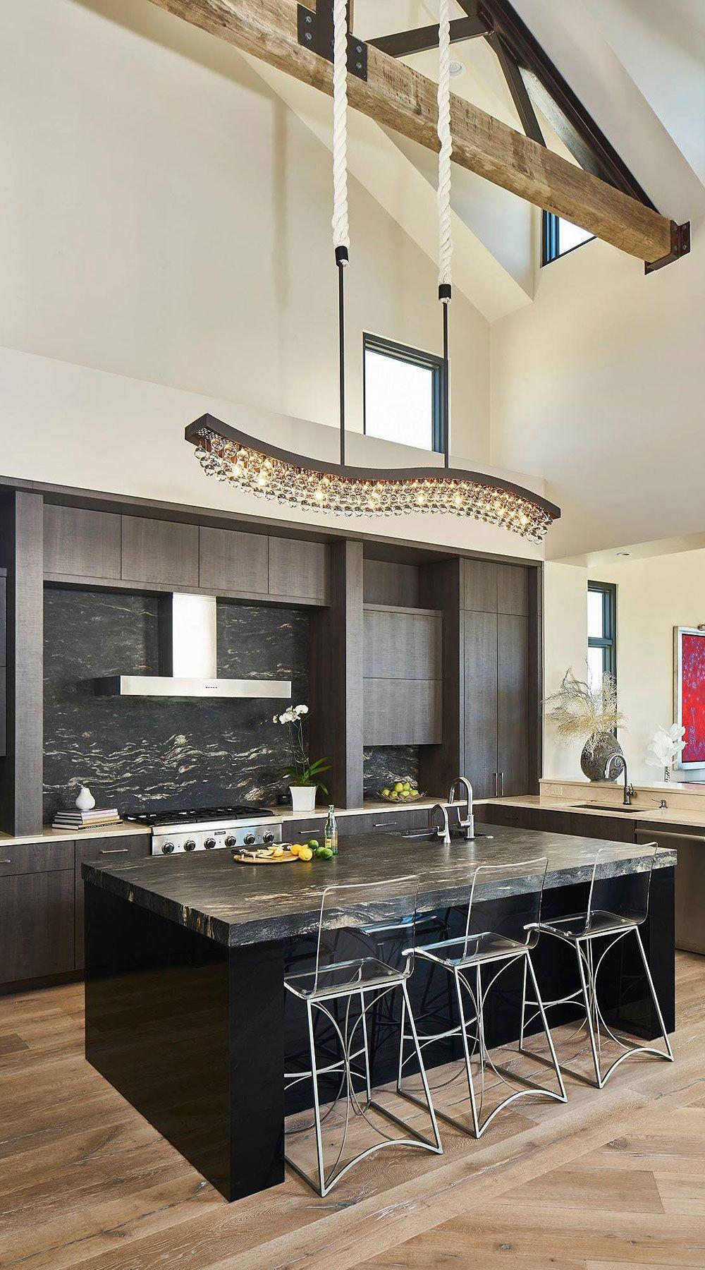 50+ Black Countertop Backsplash Ideas (Tile Designs, Tips ... on Backsplash Ideas For Dark Granite Countertops  id=44988