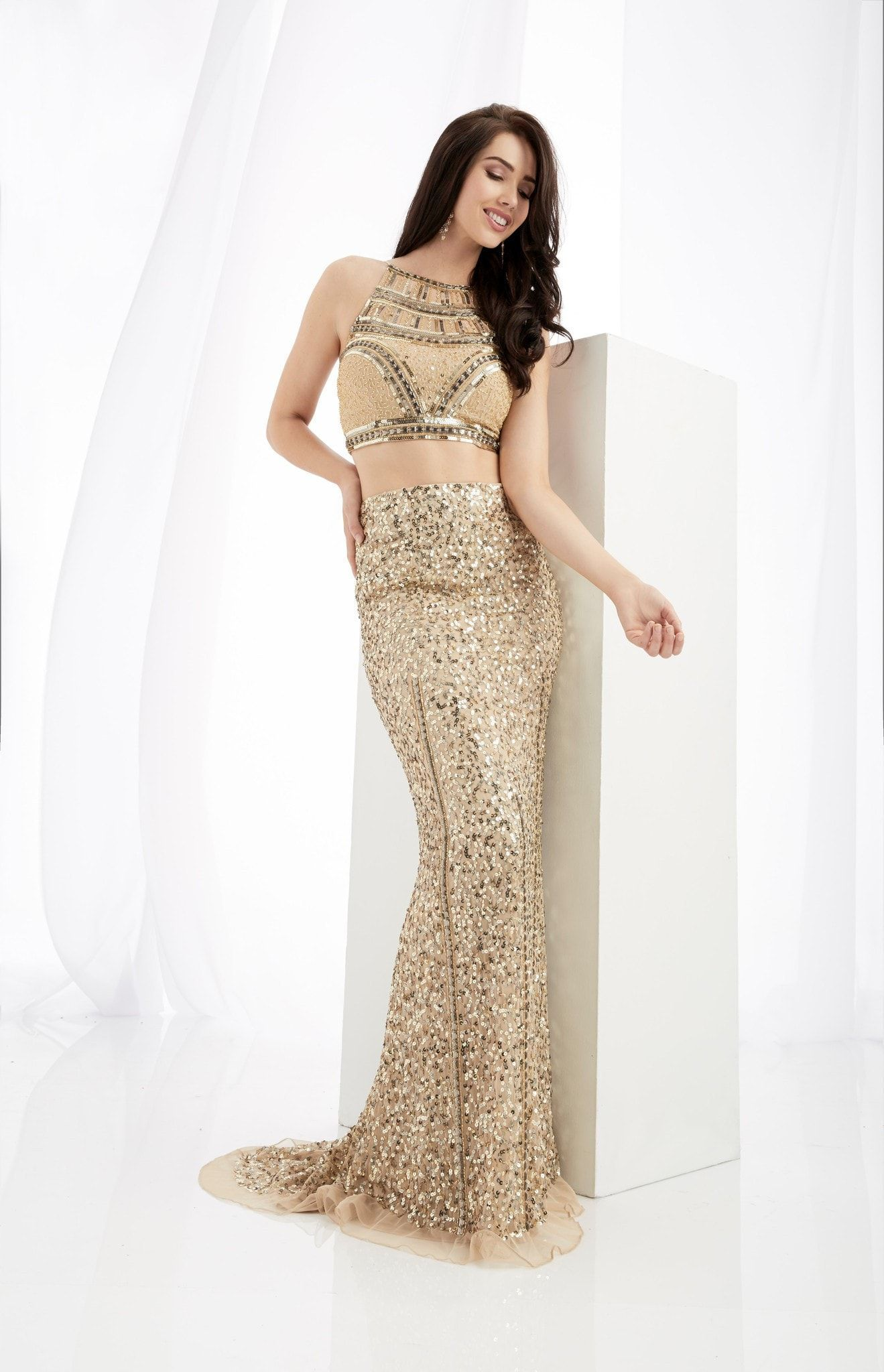 Jasz couture gold twopiece prom dress prom pinterest