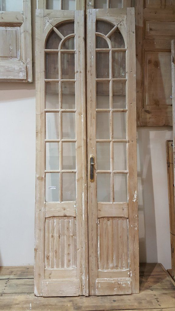 Pair of pine french doors lake house decor ideas pinterest pair of pine french doors planetlyrics Image collections