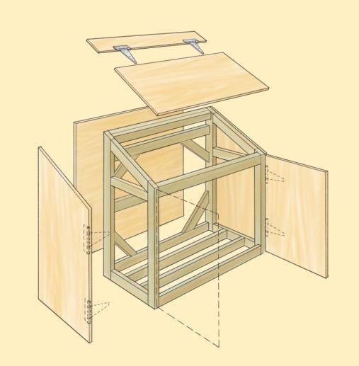 Instructions On How To Build A Trash Shed Tuinkast Opbergbakken Vuilnisbakken