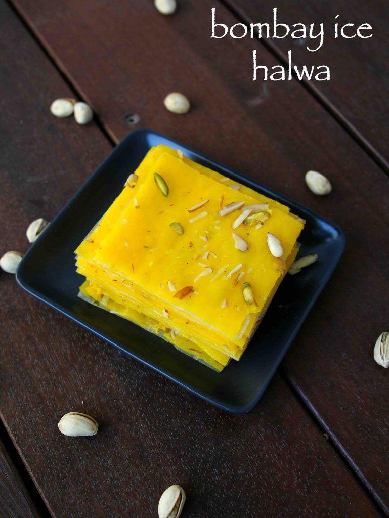 ice halwa recipe | bombay ice halwa | mumbai halwa