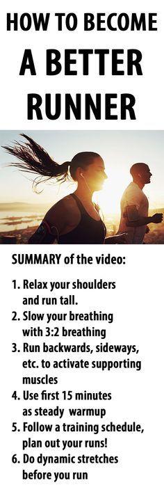 This is how you can become a BETTER RUNNER… #running #runningtips #runningadvice