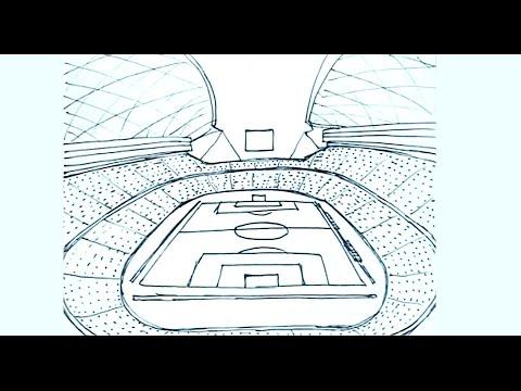 Pin De Nataliia Cabrera En Blas Estadio De Futbol Como Dibujar Dibujo Perspectiva