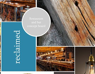 """Check out new work on my @Behance portfolio: """"Reclaimed Restaurant and Bar"""" http://on.be.net/1LQm8mp"""