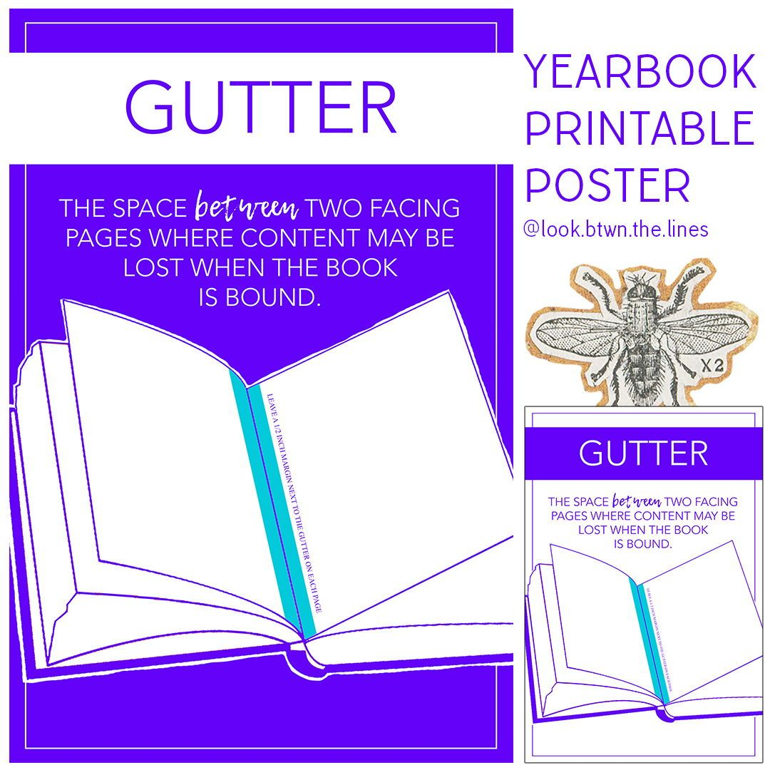 This Modern Printable Poster Explains The Yearbook Or General Journalism Vocab Word Gutter Journalism Yearbook Boo Posters Printable Yearbook Word Wall