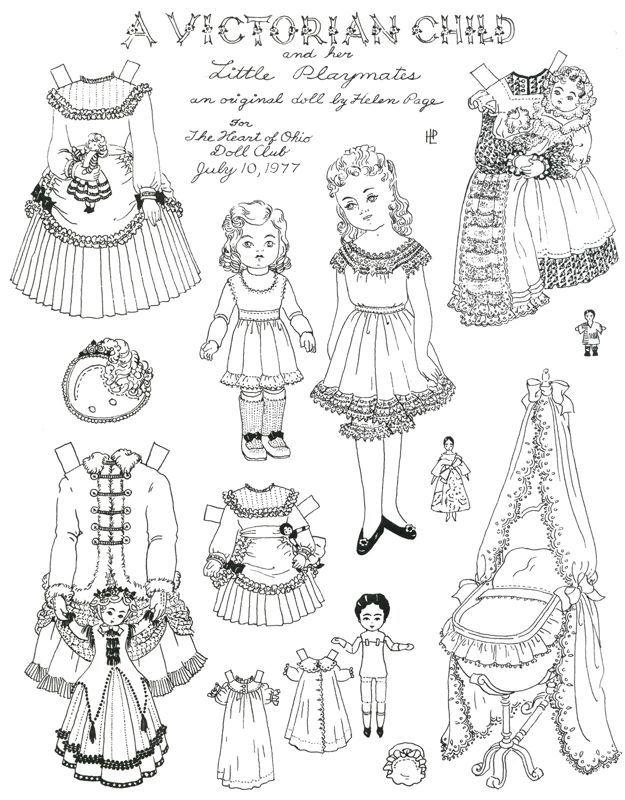 A Victorian Child Victorian Paper Dolls Paper Dolls Printable Paper Dolls