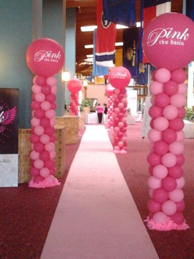 breast cancer event balloon decor pinterest cancer awareness breast cancer awareness and. Black Bedroom Furniture Sets. Home Design Ideas