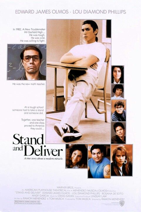 Stand And Deliver (1988) | Stand and deliver, Good movies ...