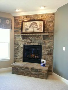 Indoor Fireplace Ideas On Pinterest Stone Fireplaces