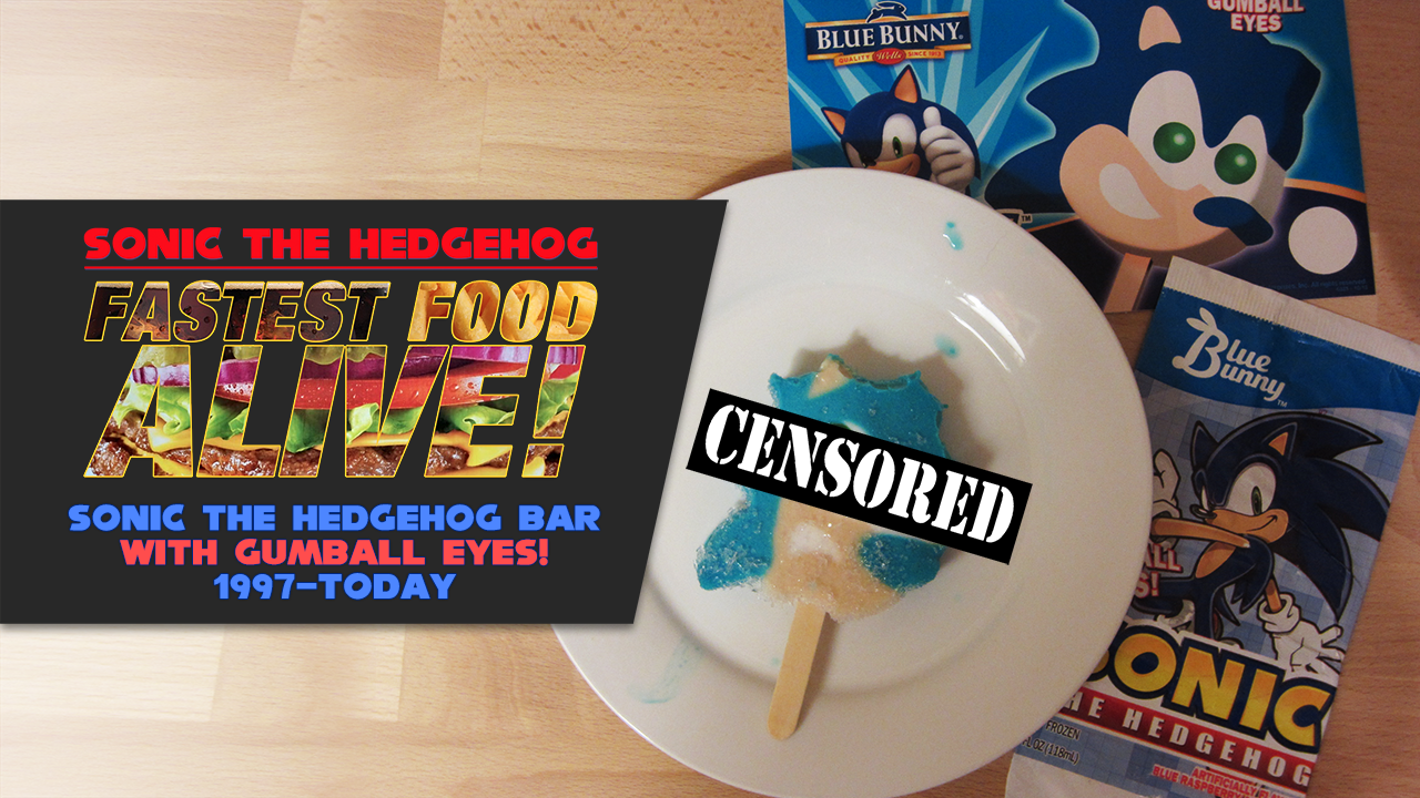 Fastest Food Alive Unwrapping The Sonic The Hedgehog Ice Cream Bar With Gumball Eyes Sonic Retro Icecream Bar Sonic The Hedgehog Fast Food