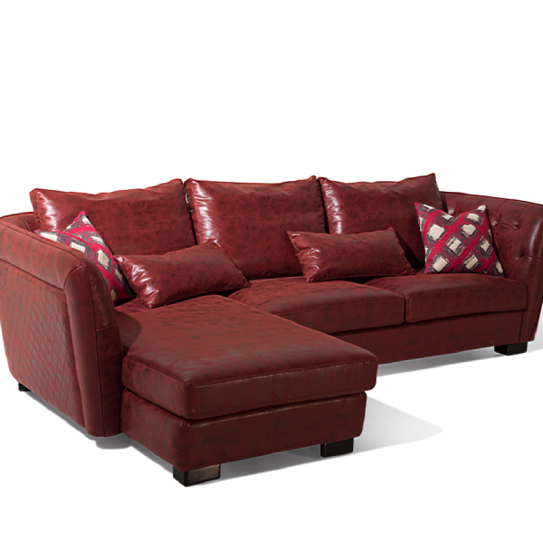 Phenomenal Modern Design China Supplier Red Quilted L Shaped Sofa In Pdpeps Interior Chair Design Pdpepsorg