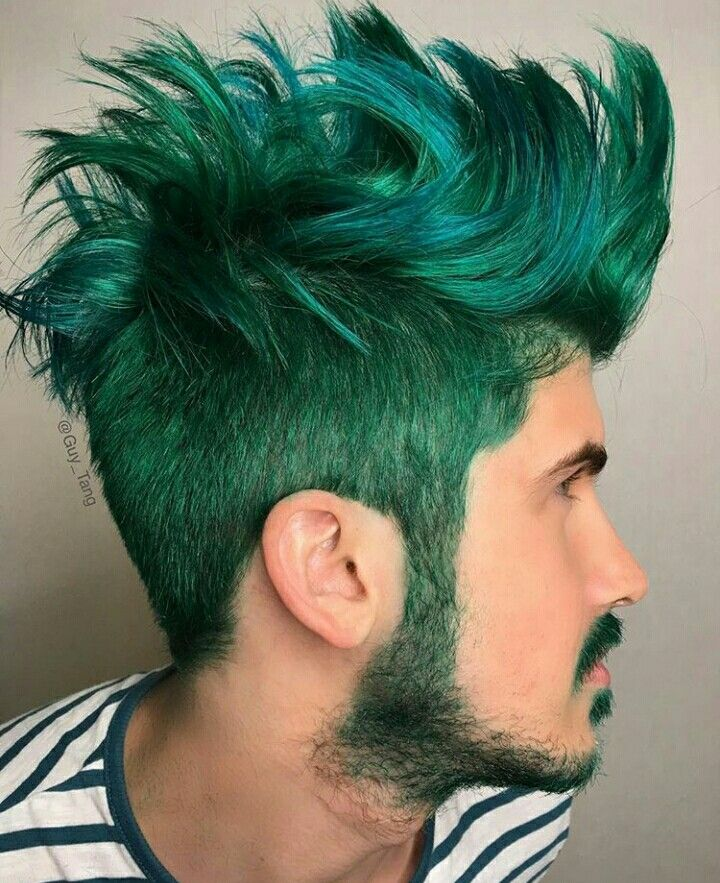 Love The Mix Of Green And Blue Green Hair Cool Hair Color Hair Color 2018