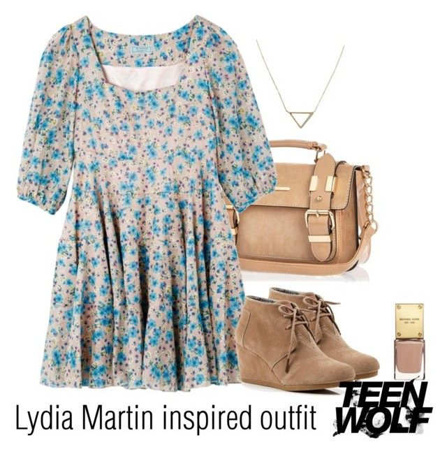 """Lydia Martin inspired outfit/TW"" by tvdsarahmichele ❤ liked on Polyvore featuring River Island, TOMS and Banana Republic"