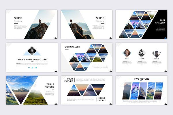 Mountain Powerpoint Template  Presentations  Creative