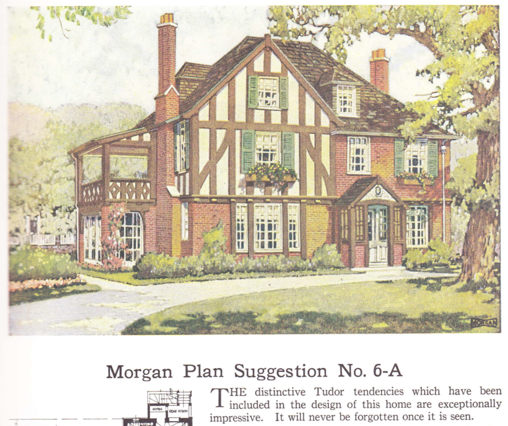 House plan published in millwork catalog in1921 by the Morgan