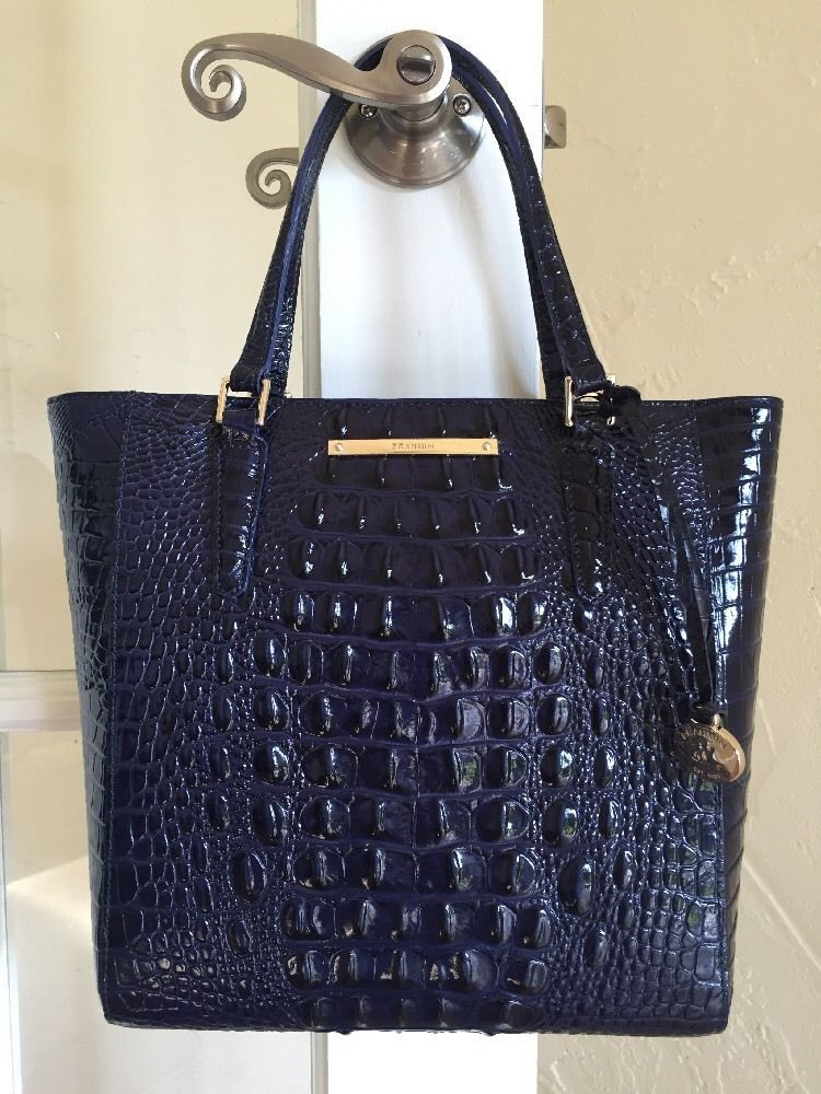 8b281ea1379 Brahmin Harrison Carryall Ink Blue Melbourne Leather   eBay Brahmin Bags,  Brahmin Handbags, Design