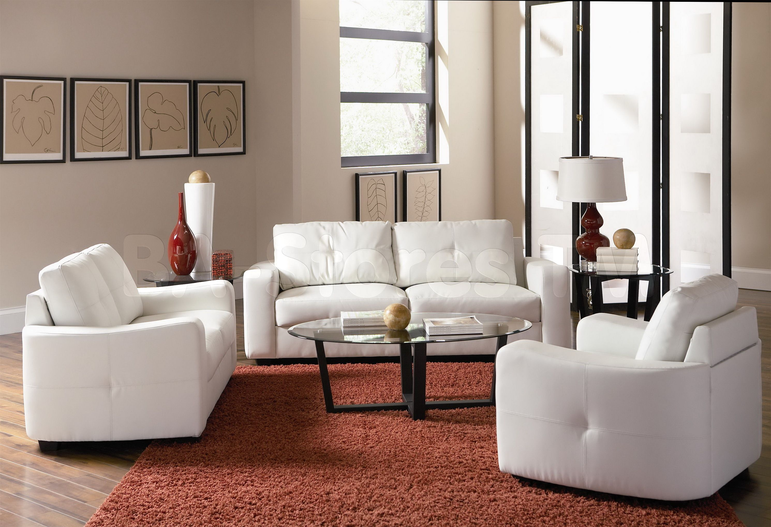 Furniture Magnificent Snow White Sofa Loveseat With Minimalist