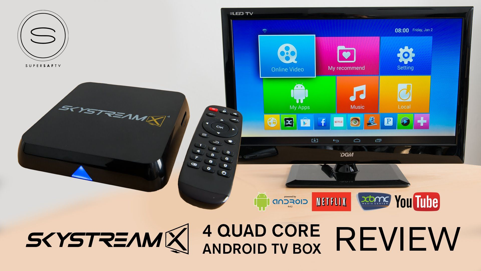 Skystreamx 4 Quad Core Android Tv Box Review Xbmc Android Tv