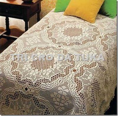 clip_image001   Colchas a crochet   Pinterest   Deckchen
