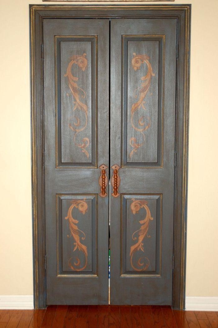 ▷ 1001 + idées petit budget de décoration de porte intérieure