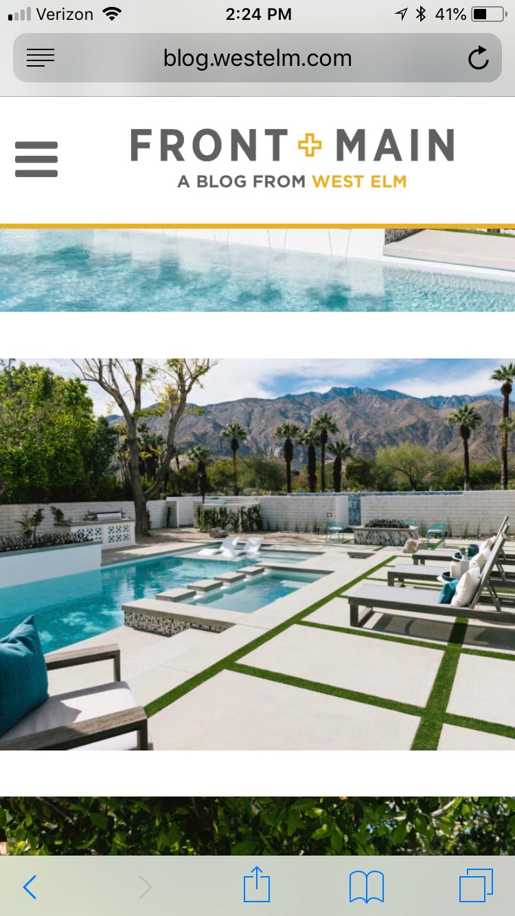 West Elm Palm Springs House 2018 Backyard Pool Has Large